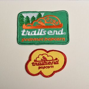 1980s Embroidered Sew On Patch Trails End Popcorn Applique
