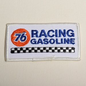 76 Racing Gasoline Embroidered Sew On Patch Automotive Race Cars Gas Applique