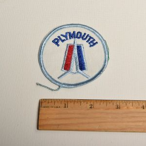 1970s Plymouth Auto Round Sew On Patch Automotive Applique - Fashionconstellate.com
