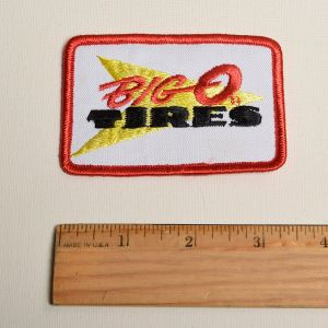 1970s Big O Tires Automotive Embroidered Sew On Patch Auto Applique  - Fashionconstellate.com