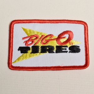 1970s Big O Tires Automotive Embroidered Sew On Patch Auto Applique
