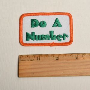1970s Do A Number Slang Embroidered Sew On Patch Phrase Appliqué - Fashionconstellate.com