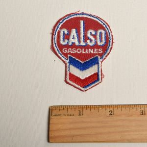 1960s Calso Gasolines Automotive Embroidered Sew On Patch Gas Station Auto Applique - Fashionconstellate.com