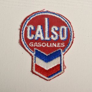 1960s Calso Gasolines Automotive Embroidered Sew On Patch Gas Station Auto Applique
