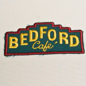 1970s Bedford Cafe Embroidered Sew On Patch Foodie Restaurant Appliqué