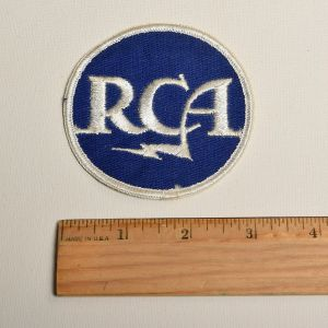 1970s RCA Electronics Embroidered Sew On Patch Round Appliqué - Fashionconstellate.com