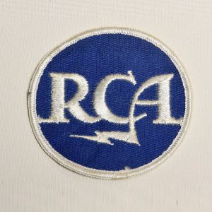 1970s RCA Electronics Embroidered Sew On Patch Round Appliqué