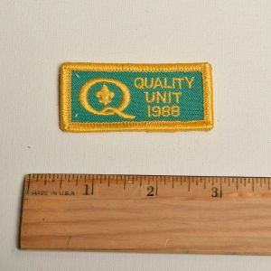 1988 Green Quality Unit Embroidered Sew On Patch Yellow Appliqué - Fashionconstellate.com