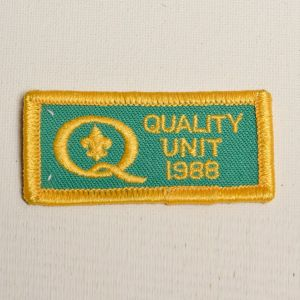 1988 Green Quality Unit Embroidered Sew On Patch Yellow Appliqué