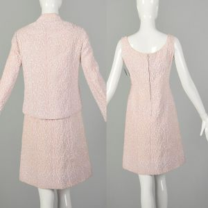 Small 1960s Set Pink As-Is Dress Jacket Theatre Costume Ensemble - Fashionconstellate.com