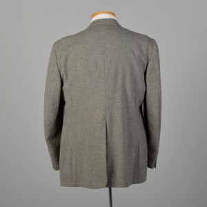 Large 1970s Keith Carlton Gray Jacket Wide Lapel Blazer Coat - Fashionconstellate.com