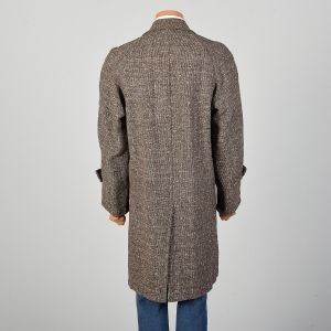 Medium 1950s Mens Wool Tweed Overcoat Fall Outerwear Coat Jacket - Fashionconstellate.com