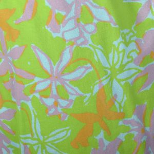 Medium 1960s Cigarette Pants Lilly Pulitzer Signature Print Green Aqua Pink Floral - Fashionconstellate.com