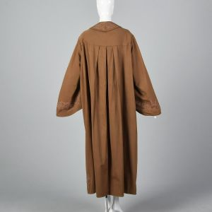 Antique Masonic Brown Ceremonial Robe Pink Embroidery Unisex Theater Costume Secret Society  - Fashionconstellate.com
