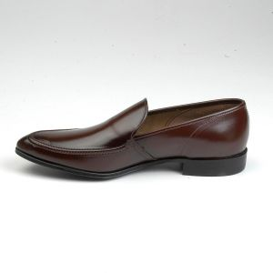 Size 8.5 1950s Deadstock Tru Flex Brown Leather Slip On Loafer Pointed Toe - Fashionconstellate.com