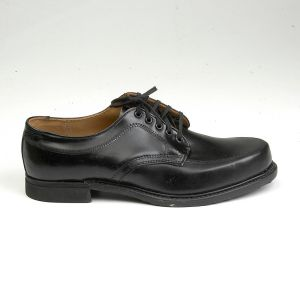 Size 12 1960s Black Leather Work Wear Derby Service Uniform Shoes Casual