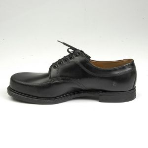 Size 12 1960s Black Leather Work Wear Derby Service Uniform Shoes Casual - Fashionconstellate.com