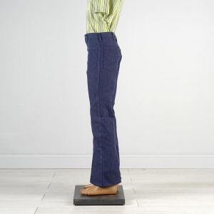 32 x 34 1970s Jeans Sanforized High Rise Indigo Dark Denim Bell Bottoms - Fashionconstellate.com
