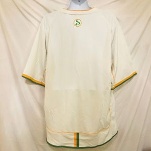 Vtg 90s Davoucci Mens Spell Out Jersey Style Shirt 3X White Urban Hip Hop Street - Fashionconstellate.com