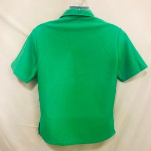 Vintage 60s Sears Hawaii Bright Green Wide Collar Kamehameha Popover Shirt Size L Made In TheUSA - Fashionconstellate.com