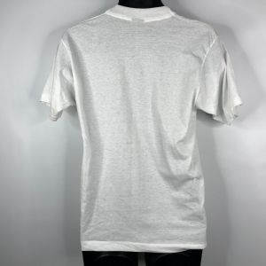 Vintage 90s Step On The Gas Kick Some Ass Graphic T-shirt Size M Fruit Of Loom Best Made In The USA - Fashionconstellate.com