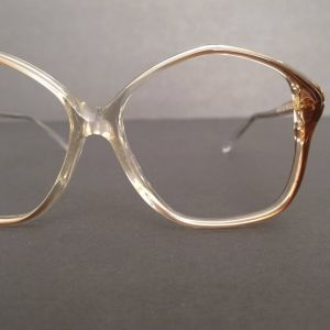 1970s Vintage Pathway Willow/Crystal Oversized Eyeglasses Sunglasses Frames Thin is In No. 5