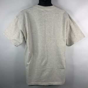 Vintage 90s Air Waves Rural Country Railroad Train Heather Gray T-shirt Size XL Murina Made In USA - Fashionconstellate.com