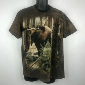 Vintage 2000s The Mountain Tie Dye Moose T-shirt King Of The Northwoods Size L