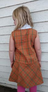60s Girls Orange Plaid Print Dress Mod Vintage 6 7 8 Carol Evans Penneys - Fashionconstellate.com