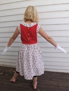 50s Girls Novelty Print Dress Cars Cotton Red White - Fashionconstellate.com